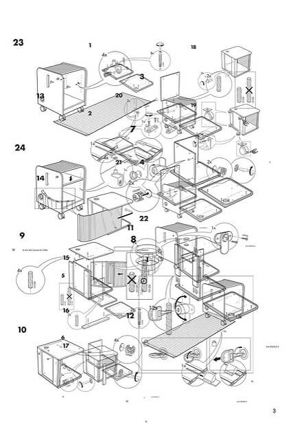 A picture from an Ikea furniture manual via https://flatpackmates.co.uk/